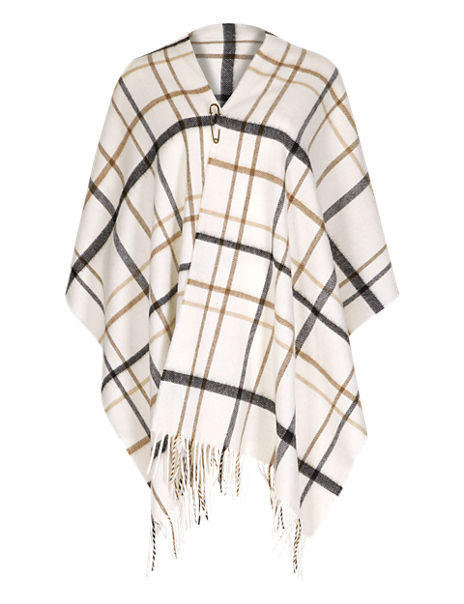 Best of British Pure Wool Checked Wrap