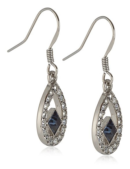 Floating Square Drop Earrings MADE WITH SWAROVSKI® ELEMENTS