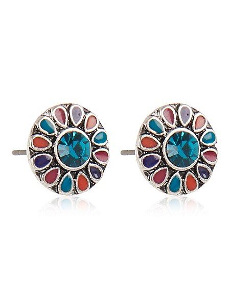 Enamel Pretty Earrings