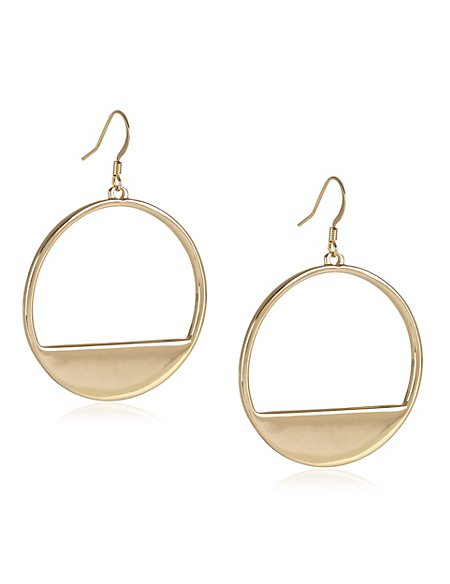 Filled Metal Hoop Earrings