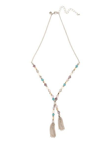 Mini Bead Tassel Necklace