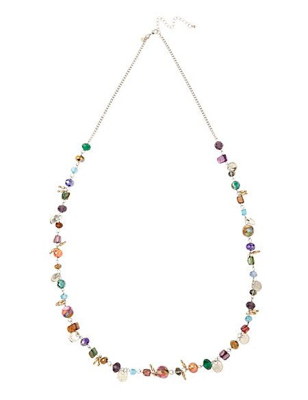 Assorted Bead & Shell Rope Necklace