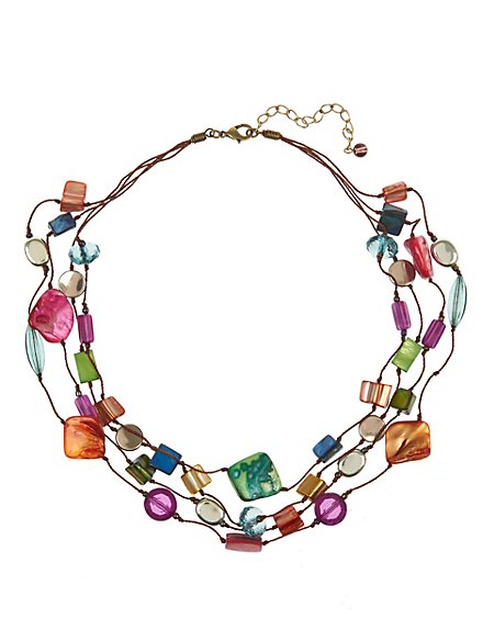 Assorted Bead & Shell Necklace