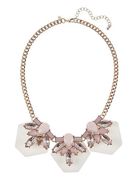 Layered Gem Diamanté Necklace