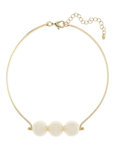 Pearl Effect Choker Necklace