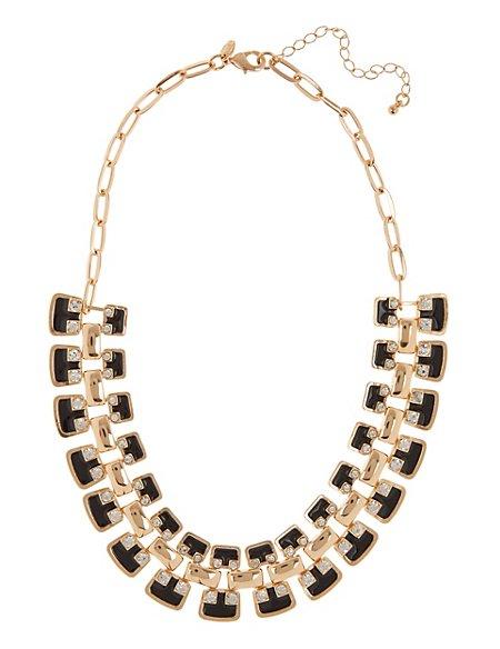Enamel & Diamanté Necklace