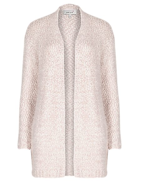 Open Front Fluffy Cardigan