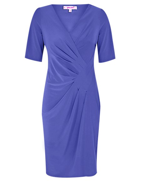 Crossover Bodycon Midi Dress
