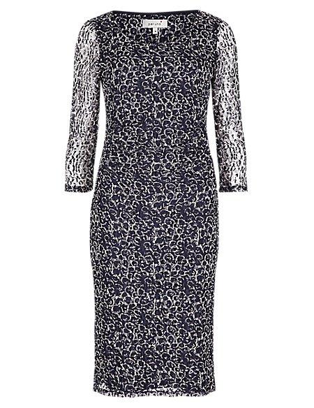 3/4 Sleeve Lace Bodycon Dress