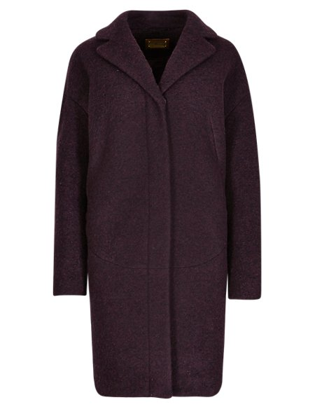 Oversized Wool Blend Penny Coat