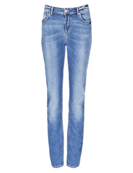 Roma Rise Slim Fit Denim Jeans