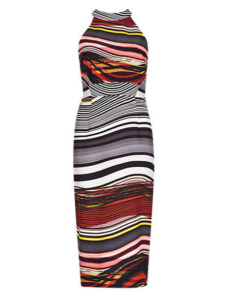Speziale Abstract Print Bodycon Dress
