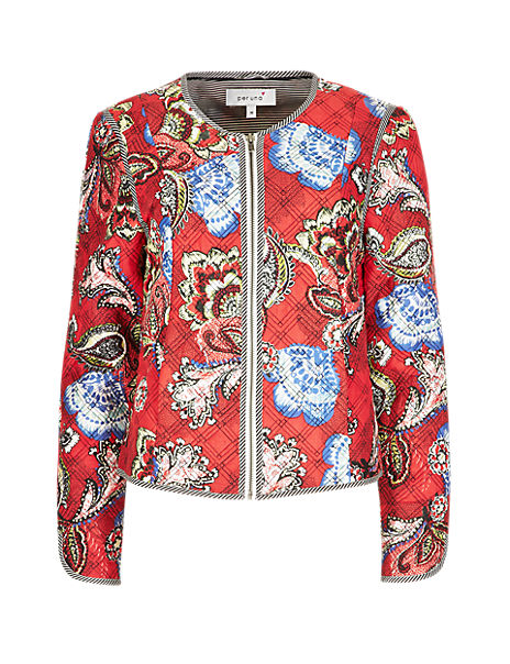 Pure Modal Lightly Padded Floral Jacket