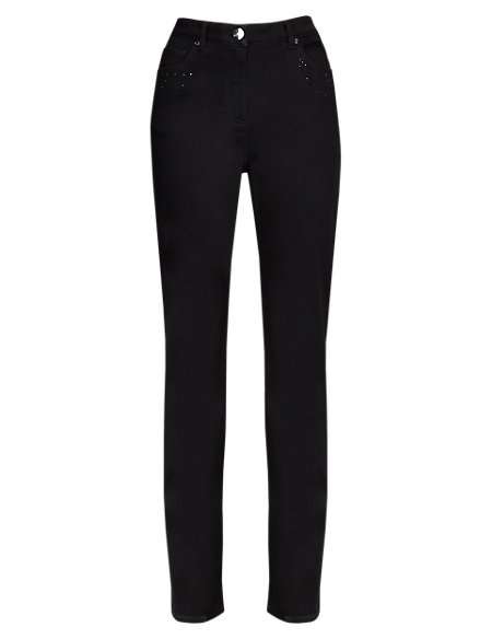 Roma Straight Leg Embellished Jeans