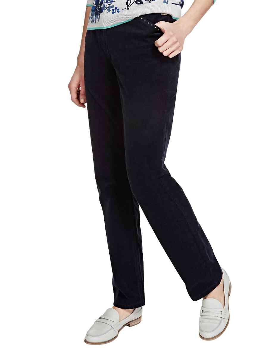 30749450441 Roma Rise Cotton Rich Straight Leg Corduroy Trousers