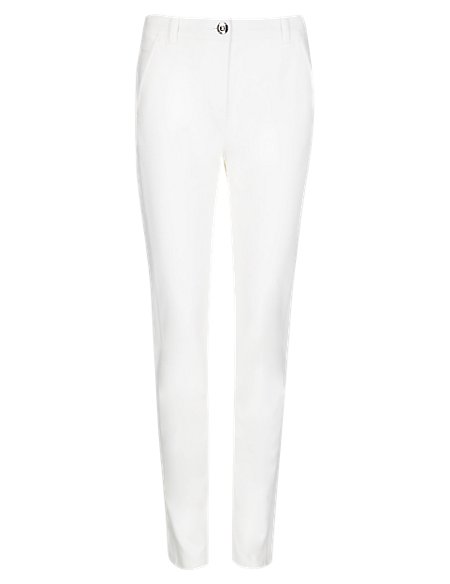 Roma Cotton Rich Ankle Grazer Trousers