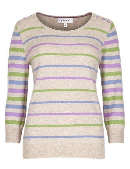 Pure Cashmere Striped Jumper