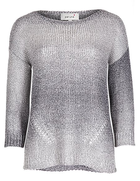 Italian Made Ombre Tape Knit Jumper