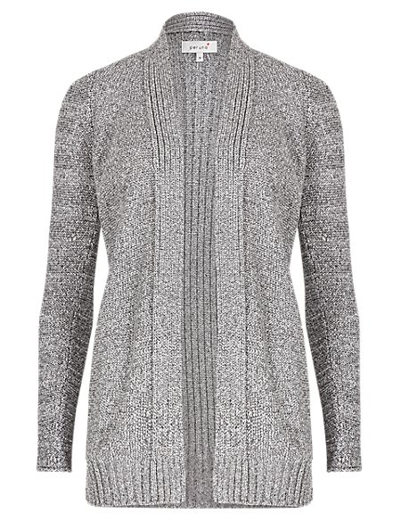 Open Front Shimmer Cardigan
