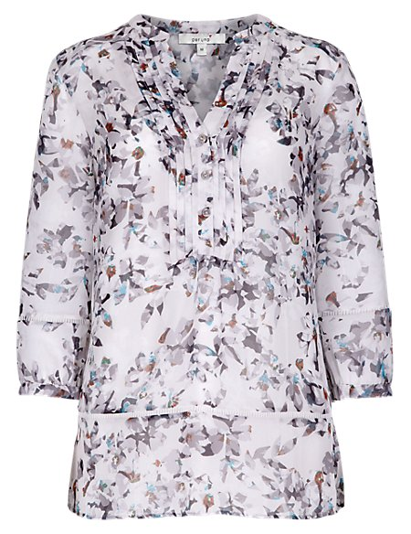 Floral Blouse with Camisole
