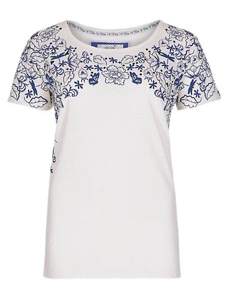 Pure Cotton Floral T-Shirt
