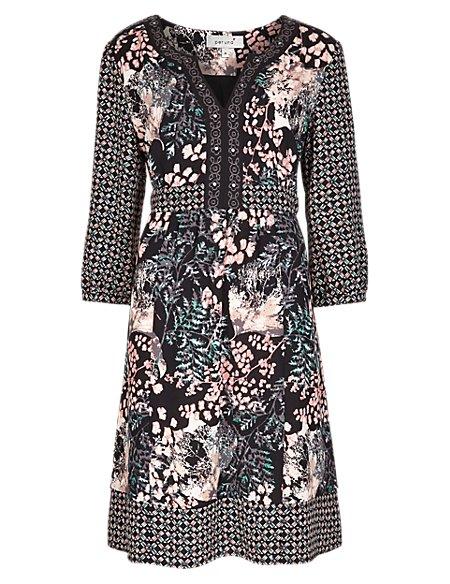 Mixy Print Fit & Flare Dress