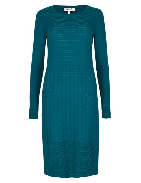 Long Sleeve Knitted Tunic Dress
