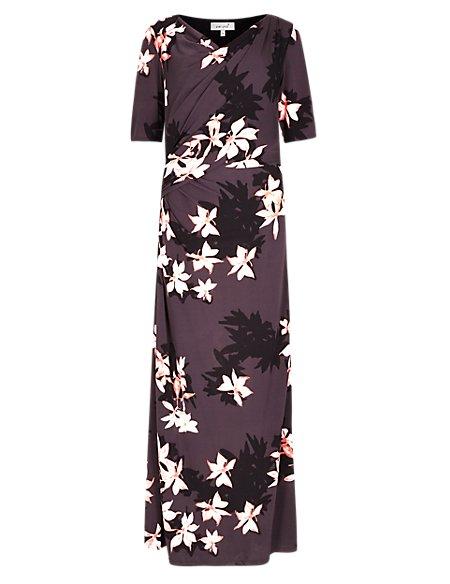 Placement Floral Maxi Dress