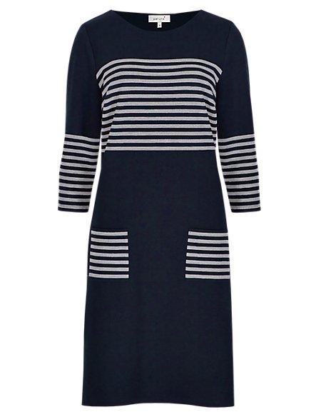 Nautical Striped Tunic Dress