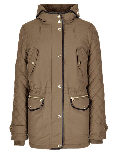 Hooded & Padded Parka with Stormwear™