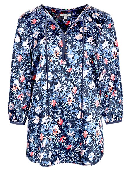 Silk Rich Ditsy Floral Blouse