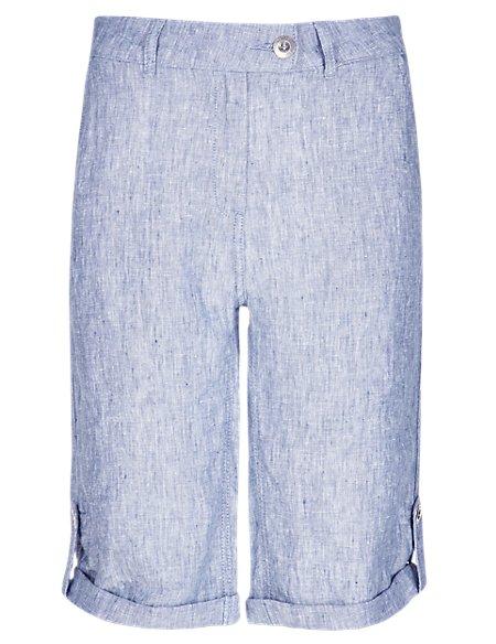 Pure Linen Roma Rise Shorts