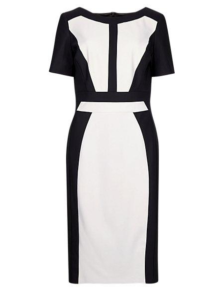 Speziale Colour Block Panelled Shift Dress