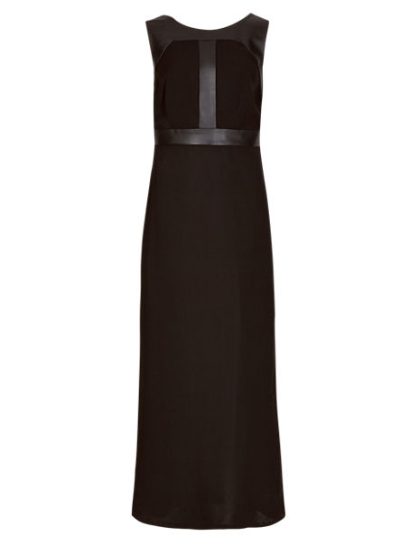 6b1f7a2cd1f Product images. Skip Carousel. Speziale Leather Trim Maxi Dress