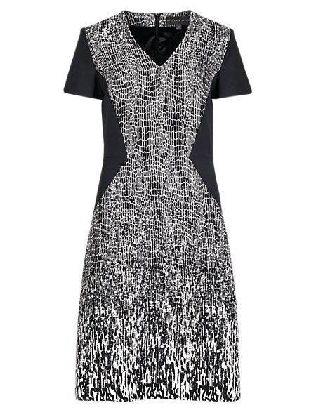 Speziale Petite Jacquard Fit & Flare Dress