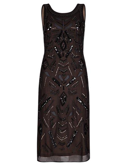 Speziale Embellished Fit & Flare Dress