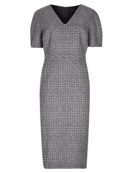 Speziale Jacquard Shift Dress with Wool
