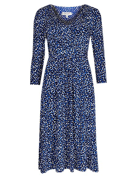 Abstract Spotted Fit & Flare Dress