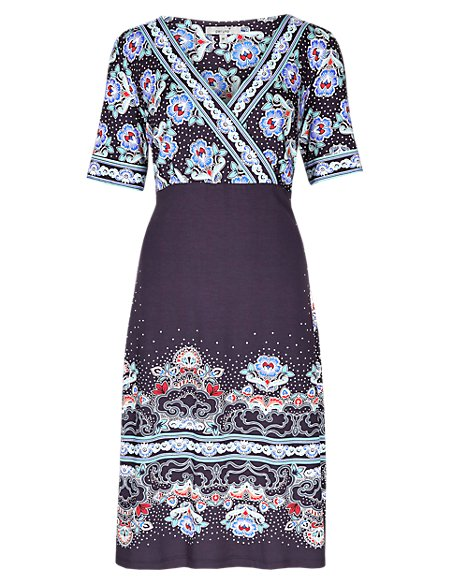 Floral & Spotted Dress