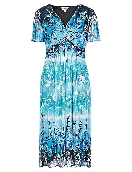 Lagoon Crinkle Midi Dress
