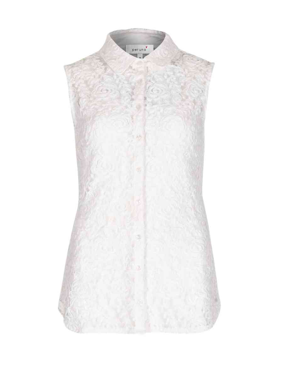 401fb3eefc429 Floral Lace Sleeveless Shirt with Camisole