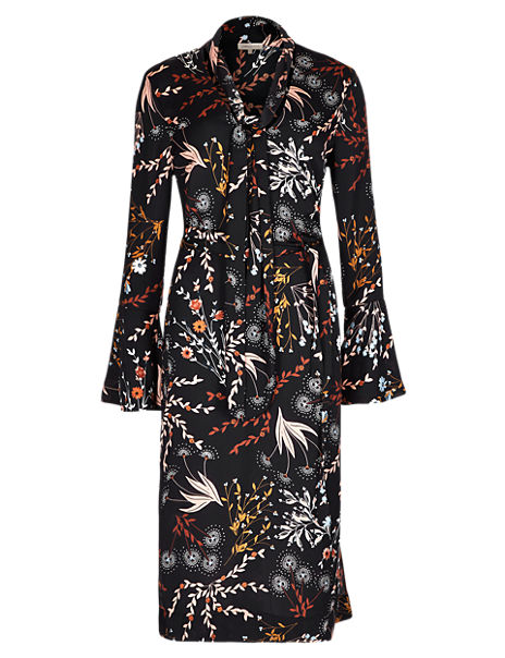 Floral Midi Shift Dress