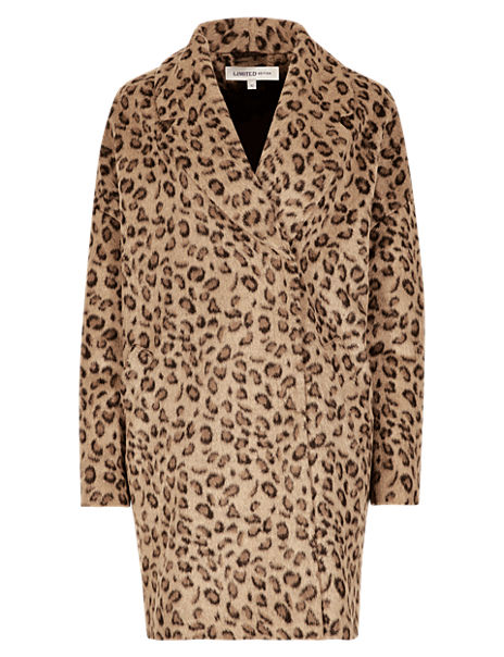 Animal Print Cocoon Coat