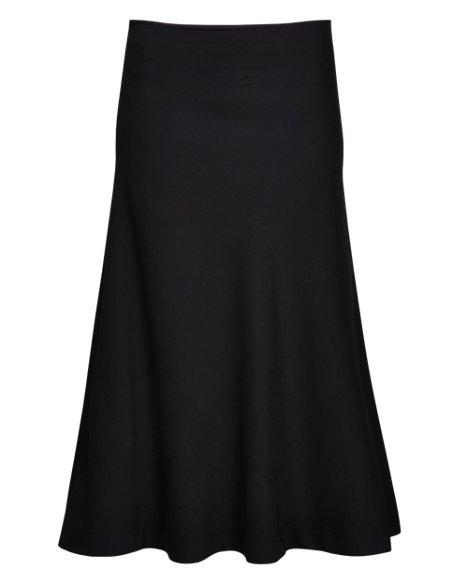 Long Fit & Flare Flippy Skater Skirt