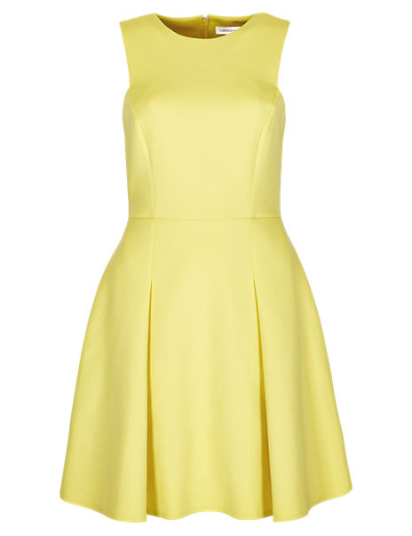 A-Line Pleated Skater Dress