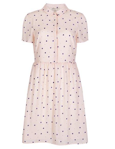 Heart Print Shift Dress
