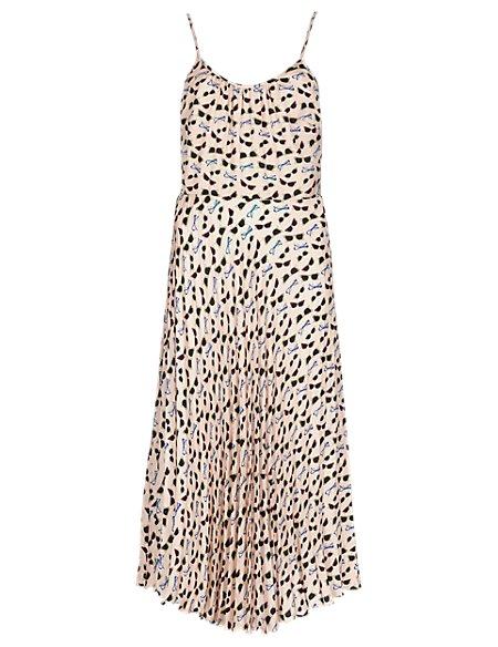 Sunglasses Print Midi Dress