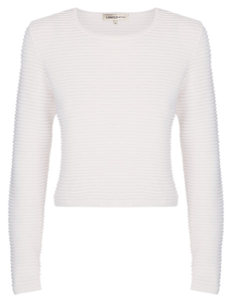 Pure Cotton Ribbed Cropped Top