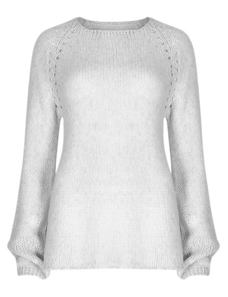 Raglan Sleeve Pointelle Jumper