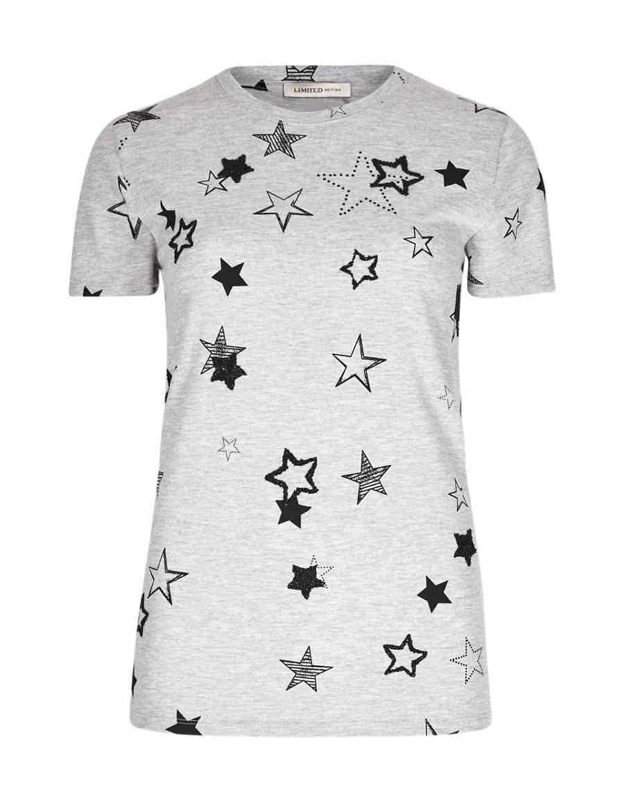 17d9c498b9a29 Embellished Star T-Shirt